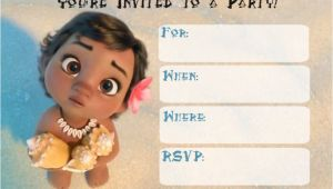 Free Baby Moana Birthday Invitation Template Free Printable Moana Invitation for Girl Baby Shower and