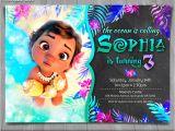 Free Baby Moana Birthday Invitation Template Moana Invitation Disney Moana Invite Moana Birthday