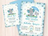Free Baby Shower Invitations to Print at Home Elephant Baby Shower Invitations Free Thank You Cards to