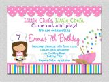 Free Baking Party Invitation Templates Cooking Birthday Party Invitation Cooking Baking Birthday