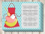 Free Baking Party Invitation Templates Cooking Party Invitations Printable Free