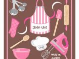 Free Baking Party Invitation Templates Personalized Cooking Demonstration Invitations