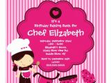 Free Baking Party Invitation Templates Print Birthday Invitations for Free Free Invitation
