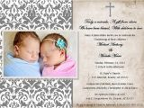 Free Baptism Invitations for Twins Printable Christening Baptism Invitations by