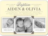 Free Baptism Invitations for Twins Twin Baptism Invitations – Gangcraft