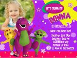 Free Barney Birthday Invitation Templates Barney Birthday Invitations Ideas Bagvania Free