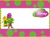 Free Barney Birthday Invitation Templates Free Printable Barney the Dinosaur Invitation Template