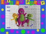 Free Barney Birthday Invitation Templates Latest Of Barney Party Invitation Template 40th Birthday