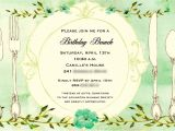 Free Birthday Brunch Invitations Birthday Brunch Invitations
