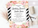 Free Birthday Brunch Invitations Birthday Invite Birthday Brunch Invitation Floral Birthday
