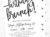 Free Birthday Brunch Invitations Invitation Flyer Templates Free Premium Templates