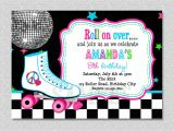 Free Birthday Invitation Templates Roller Skating Download Free Template Free Printable Roller Skating