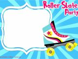 Free Birthday Invitation Templates Roller Skating Free Printable Roller Skating Invitation Templates Free