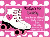Free Birthday Invitation Templates Roller Skating Rollerskating Birthday Invitation Printable or Printed