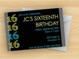 Free Birthday Invitations for 16 Year Old Boy Free Printable 16 Year Old Birthday Invitation Template