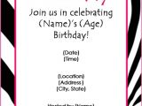 Free Birthday Invitations Templates for Word Free Birthday Party Invitation Templates for Word