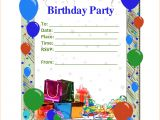 Free Birthday Party Invitation Template 6 Birthday Party Invitation Template Word Teknoswitch
