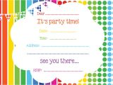 Free Birthday Party Invitation Templates Free Printable Birthday Invitations Line – Bagvania Free