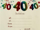Free Birthday Party Invitation Templates Uk Surprise 40th Birthday Invitation Free Template