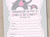 Free Blank Baby Shower Invites Ink Obsession Designs Fill In the Blank Elephant Baby
