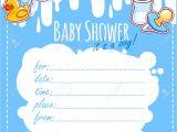 Free Blank Baby Shower Invites theme Blank Baby Shower Invitation