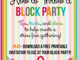 Free Block Party Invitation Template How to Throw A Block Party Printable Invitation Template