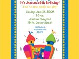 Free Bounce Party Invitation Template Birthday Bounce House Party Invitations Template Best