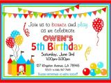 Free Bounce Party Invitation Template Bounce House Party Invitations Bouncy Castle Printable