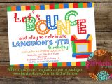Free Bounce Party Invitation Template Jump Party Invitation
