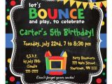 Free Bounce Party Invitation Template Personalized Bounce House Birthday Invitations