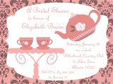 Free Bridal Shower Tea Party Invitation Templates Bridal Shower Tea Party Invitations Bridal Shower Tea