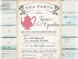 Free Bridal Shower Tea Party Invitation Templates Bridal Shower Tea Party Invitations