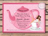 Free Bridal Shower Tea Party Invitation Templates Party Invitations Simple Detailtea Party Invitation Free