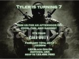 Free Call Of Duty Birthday Party Invitations Call Duty Ghosts Birthday Invitations