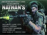 Free Call Of Duty Birthday Party Invitations Personalized Invitations