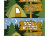Free Camping Birthday Party Invitation Templates 8 Best Images Of Camping Party Invitations Free Printable
