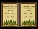 Free Camping Birthday Party Invitation Templates Free Camping Party Printables From Printabelle Catch My