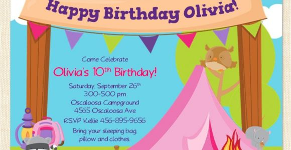 Free Camping Birthday Party Invitation Templates Free Printable Camping Birthday Invitation Template Cori