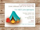 Free Camping Birthday Party Invitation Templates Free Printable Camping Birthday Invitations Printable