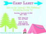 Free Camping Birthday Party Invitation Templates Glamping Birthday Party Invitation Templates Party