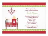 Free Christmas Baby Shower Invitations Christmas Crib Baby Shower Invitations 13 Cm X 18 Cm