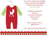 Free Christmas Baby Shower Invitations Christmas Outfit Baby Shower Invitations