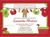 Free Christmas Baby Shower Invitations Items Similar to Christmas Baby Shower Invitations Baby
