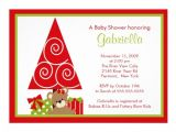 "Free Christmas Baby Shower Invitations Precious Christmas Holiday Baby Shower Invitation 5"" X 7"