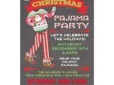 Free Christmas Pajama Party Invitations Chalkboard Christmas Pajama Party Invitations Zazzle Com