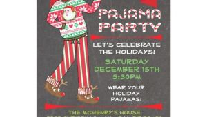Free Christmas Pajama Party Invitations Chalkboard Christmas Pajama Party Invitations Zazzle Com