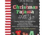 Free Christmas Pajama Party Invitations Christmas Pajama Party Chalkboard Invitation Zazzle Com