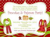 Free Christmas Pajama Party Invitations Christmas Pajama Party Invitations Home Party Ideas