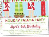 Free Christmas Pajama Party Invitations Holiday Pajama Party Invitations Christmas Pajama Party