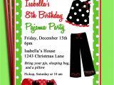 Free Christmas Pajama Party Invitations Pajama Party Printable Invitation Christmas Birthday